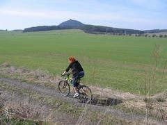 Cyklista na kole